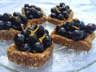 No-Bake, Gluten-Free, Raw Blueberry Citrus Tartlets